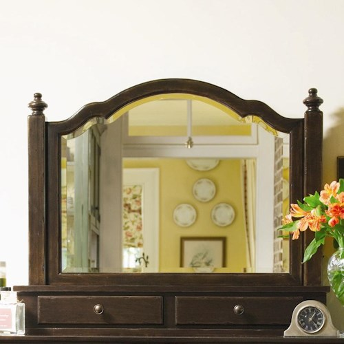 Universal Home The Lady's Storage Mirror with Jewelry Tray and Outlet