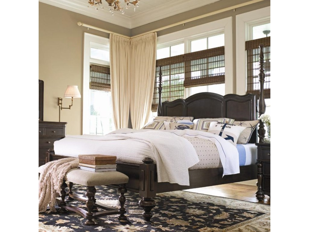 Shown with tall headboard posts only