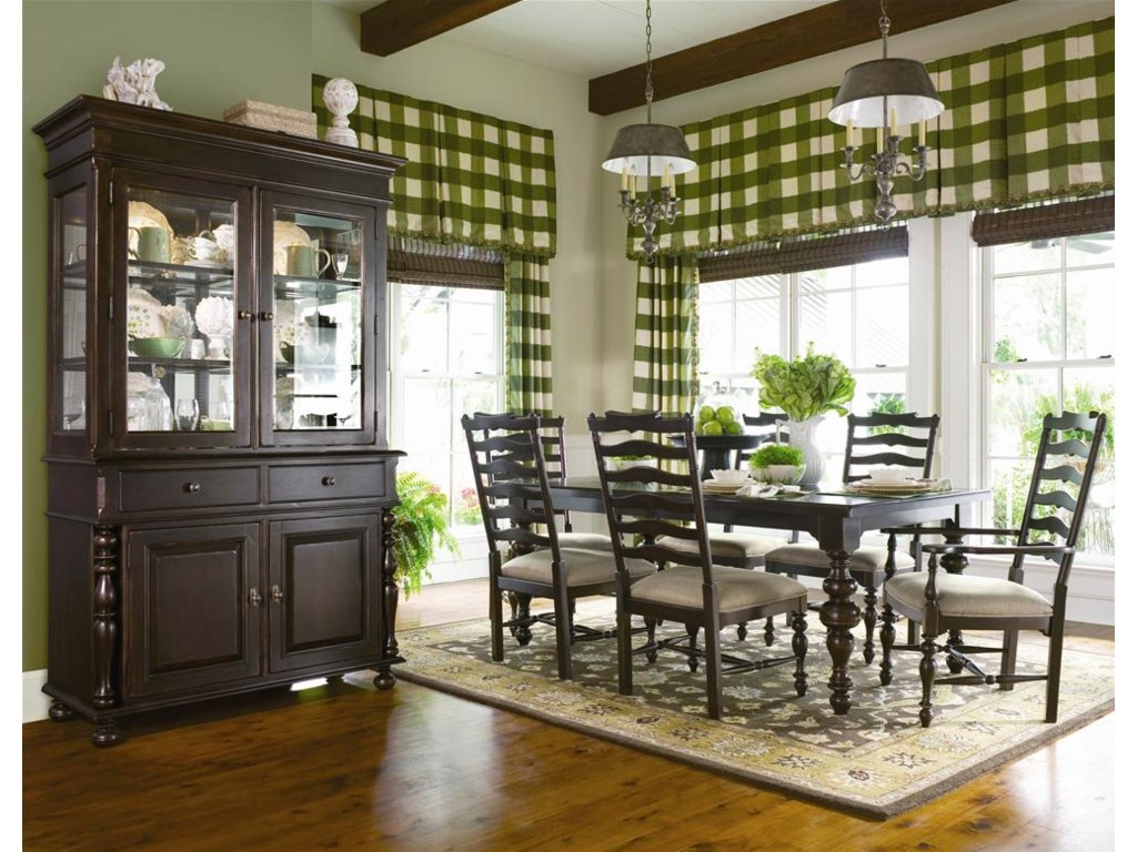 Shown with china cabinet and table set