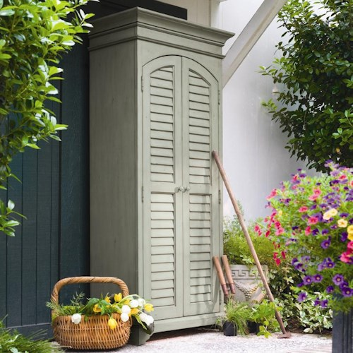 Morris Home Furnishings Paula Deen Home Utility Cabinet with Louvered Doors
