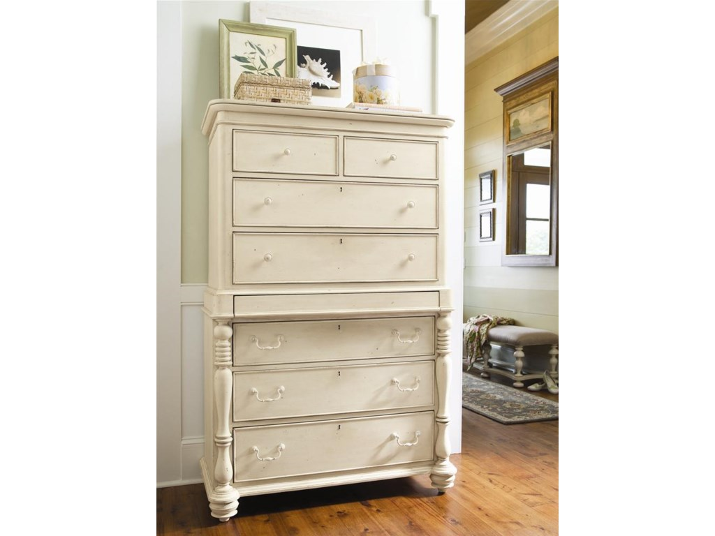Paula Deen Bedroom Furniture Universal Home Tall Chest With 7 Drawers And Semi Hidden Jewelry