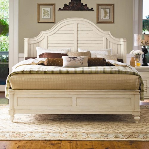 Paula Deen by Universal Paula Deen Home Queen Steel Magnolia Bed with Panel Headboard and Low Footboard
