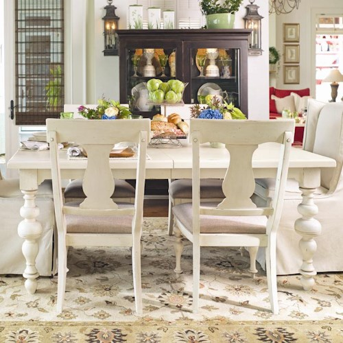 Morris Home Furnishings Pinehurst Paula's Rectangular Leg Table