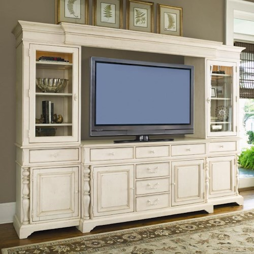 Morris Home Furnishings Pinehurst Entertainment Console Wall Unit