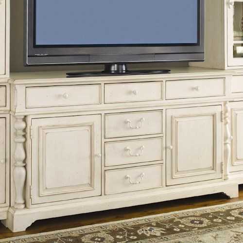 Morris Home Furnishings Pinehurst 66-inch Entertainment Console with 6 Drawers
