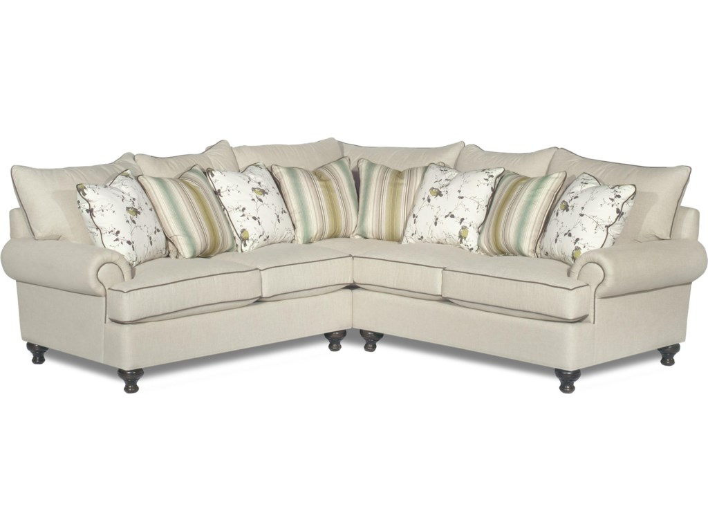Paula Deen Living Room Furniture Paula Deen By Craftmaster P711700 2 Piece Sectional Sofa With