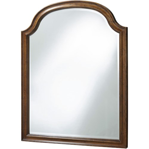 Universal Dogwood Mirror with Arched Top