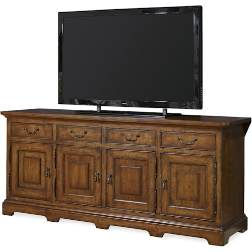 Paula Deen by Universal Dogwood Entertainment Console with Interchangeable Door Insert Panels