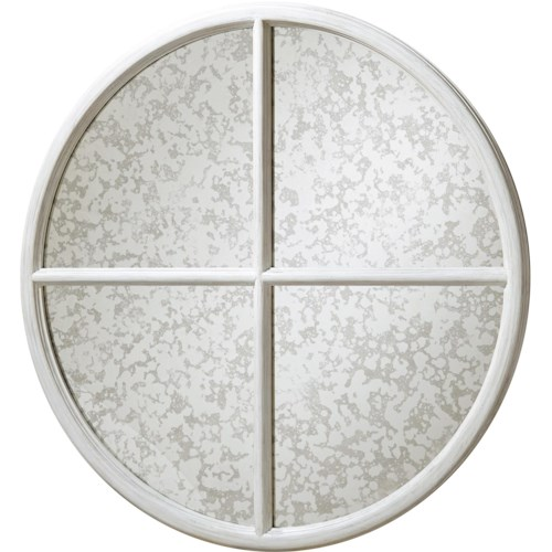 Paula Deen by Universal Dogwood Round Mirror with Antiqued Glass