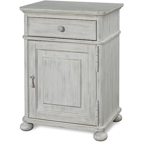 Universal Dogwood Door Nightstand with Adjustable Shelf