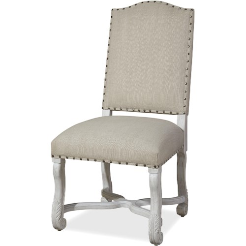 Paula Deen by Universal Dogwood Friend's Upholstered Chair with Nailhead Trim