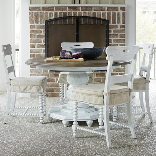Universal Dogwood 5 Piece Dining Set with Kitchen Chairs