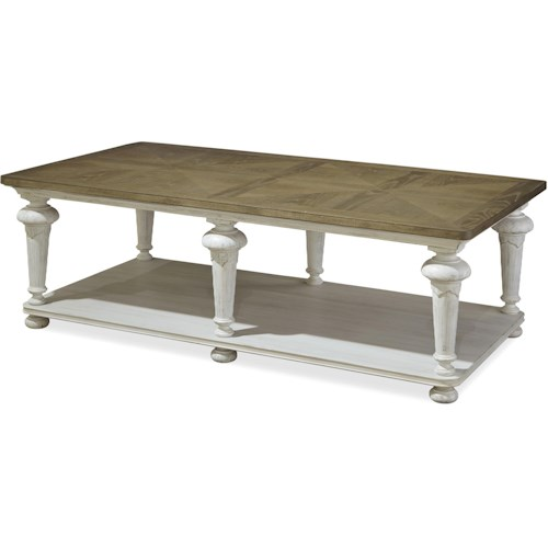 Universal Dogwood Cocktail Table with Turned Legs