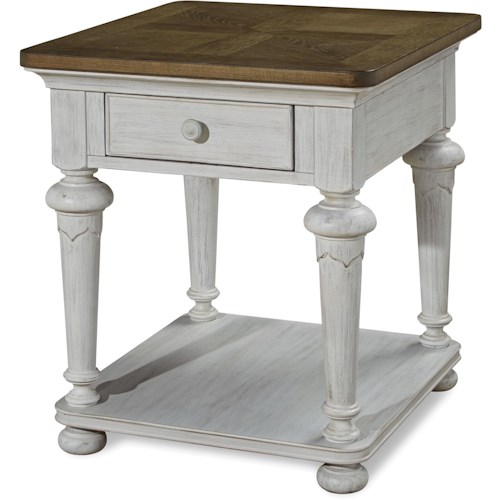 Universal Dogwood End Table with Shelf
