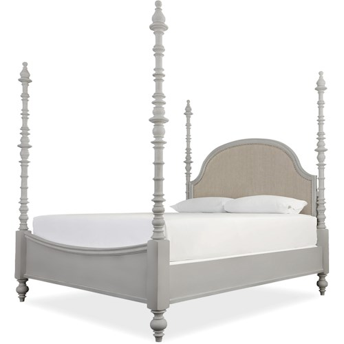 Paula Deen by Universal Dogwood The Dogwood California King Bed with Adjustable Posts