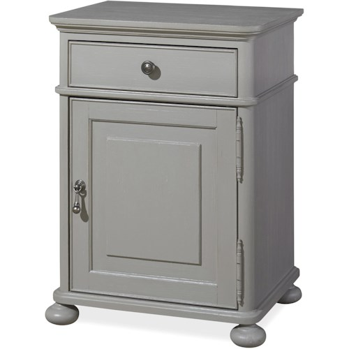 Universal Dogwood Door Nightstand with Adjustable Shelf