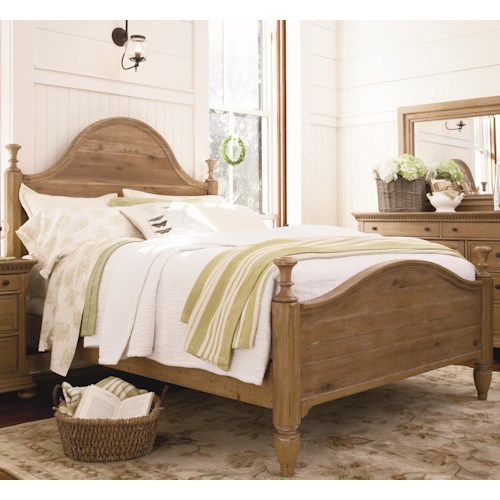 Paula Deen by Universal Down Home King Bed with Headboard and Footboard
