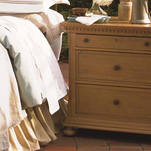 Morris Home Furnishings Pineridge 3-Drawer Nightstand