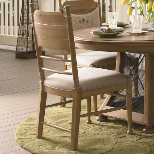 Universal Down Home Side Chair with Panel Back