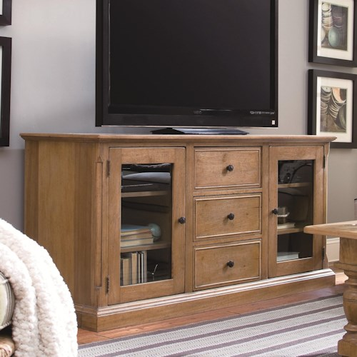 Universal Down Home 70-inch Entertainment Console with 3 Drawers