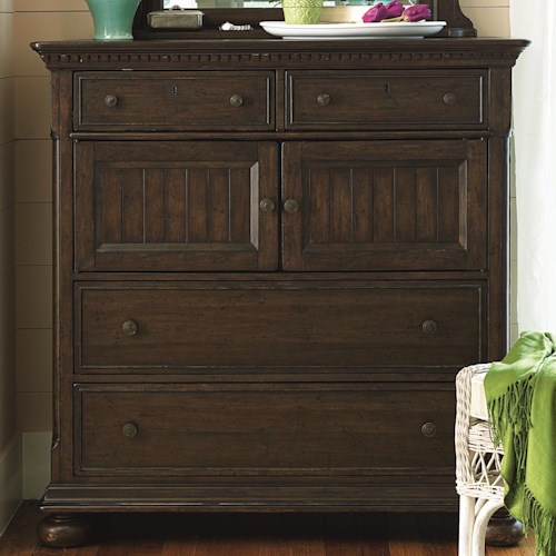 Paula Deen by Universal Down Home 4-Drawer Dressing Chest with 2 Doors