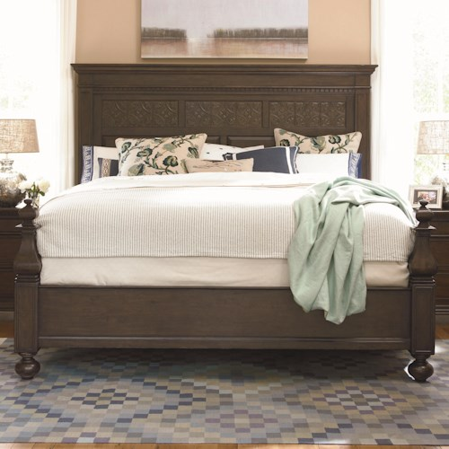 Paula Deen by Universal Down Home Queen Aunt Peggy's Bed with Headboard and Footboard