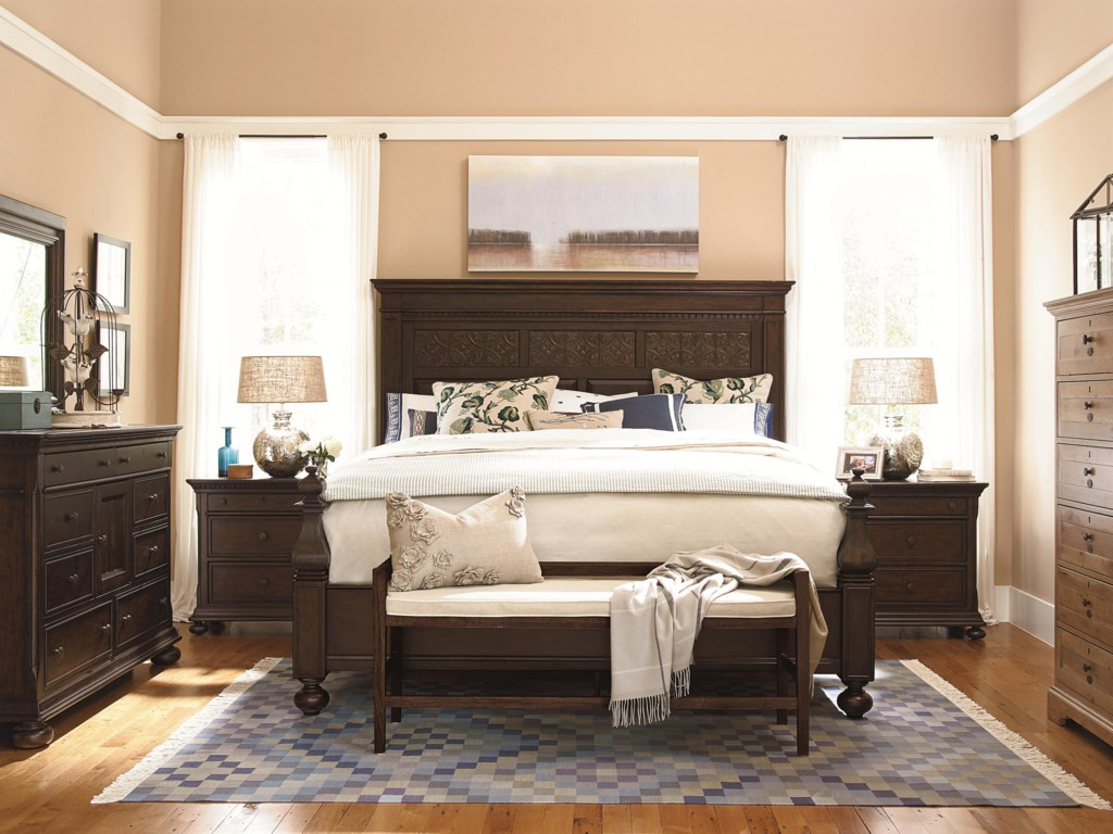 Shown with Nightstands, Landscape Mirror,Down Home Door Dresser, Bubba's Chest and Bed Bench