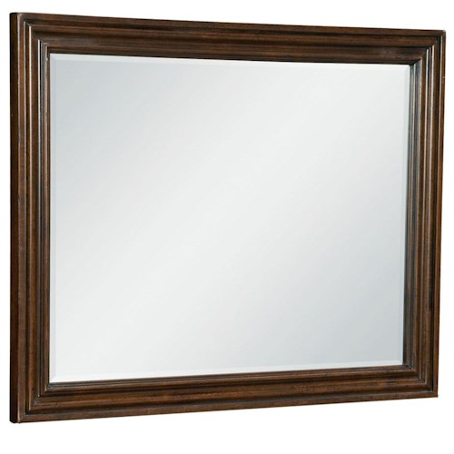 Universal River House Landscape Mirror with Beveled Edge