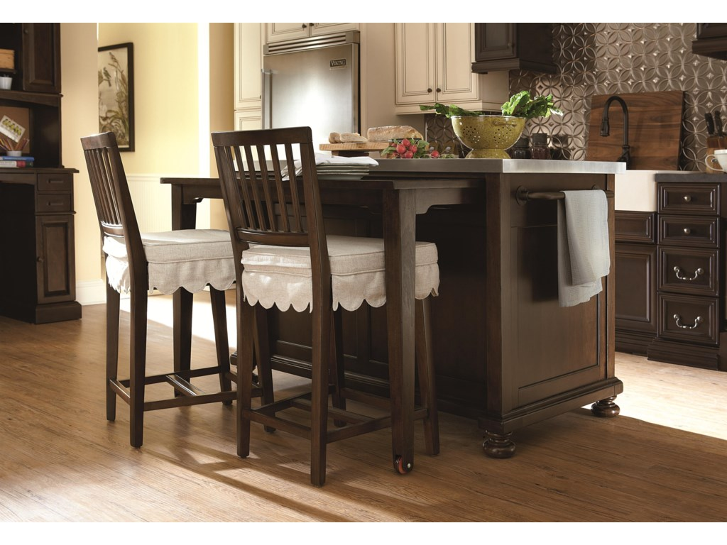 Chairs Shown with Kitchen Island and Included Seat Cushion and Slip