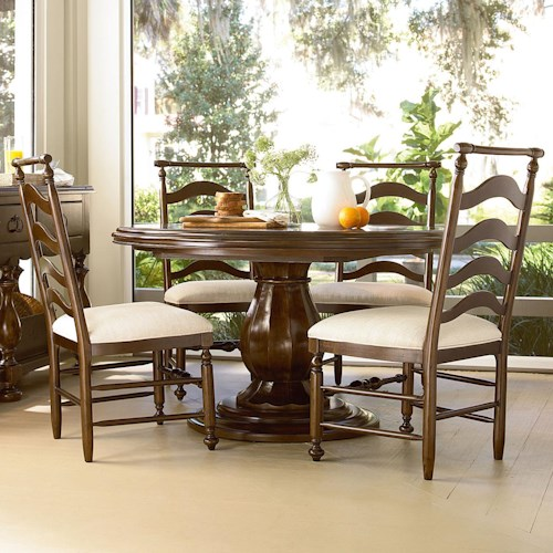 Universal River House 5 Piece Dining Set with Round Table and River House Chairs