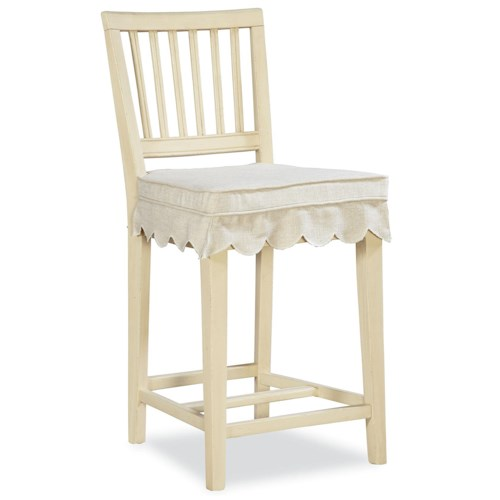 Universal River House Slat Back Counter Chair