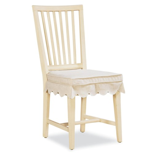 Morris Home Furnishings Riverside Slat Back Kitchen Chair with Seat Cushion