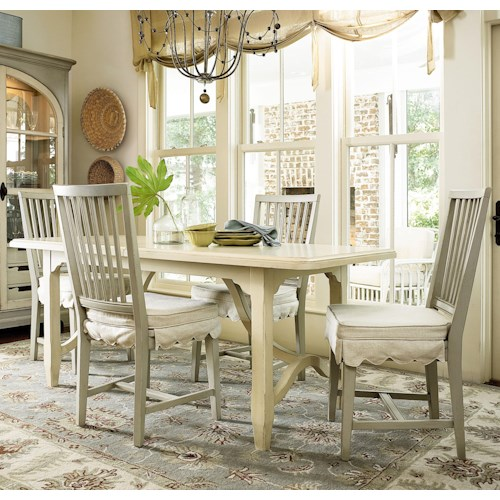Morris Home Furnishings River House 5 Piece Dining Set with Kitchen Table and Chairs