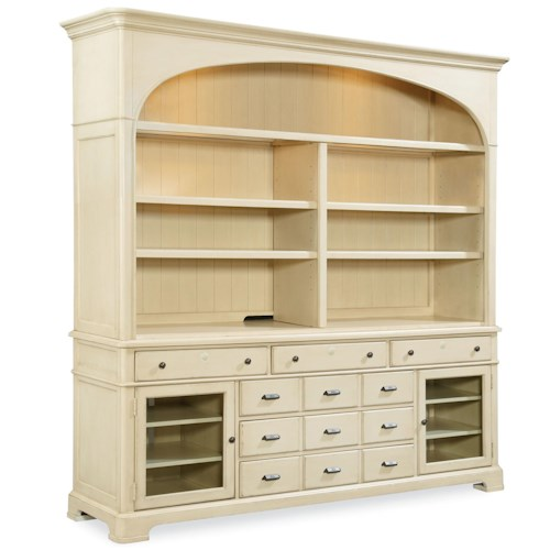 Universal River House Entertainment Console With Hutch and 6 Drawers
