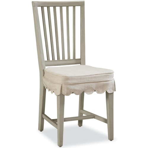 Universal River House Slat Back Kitchen Chair with Seat Cushion