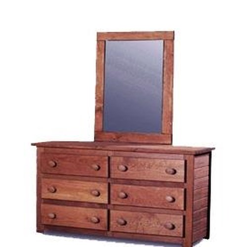 Pine Crafter Youth Bedroom Solid Pine Dresser and Mirror