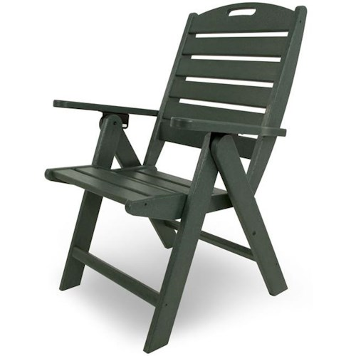 Polywood Nautical Outdoor Arm Chair with Slat Back