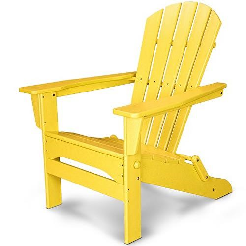 Polywood Palm Coast Folding Adirondack Chair with Slat Design