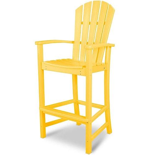 Polywood Palm Coast Bar Chair with Slat Design