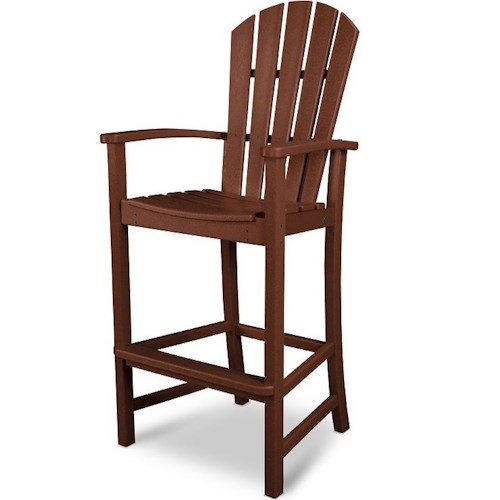 Polywood Palm Coast Bar Chair with Slat Design