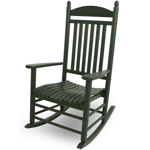 Polywood Rocker Collection Jefferson Rocker with Slat Design