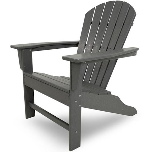 Polywood South Beach Adirondack Chair with Slat Design