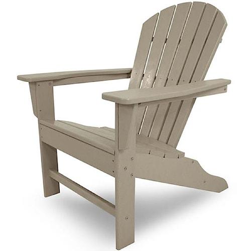Polywood South Beach Adirondack Chair with Slat Design