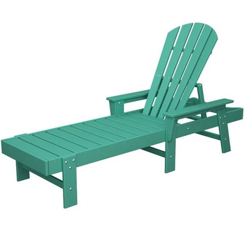 Polywood South Beach Chaise Lounge with Slat Design