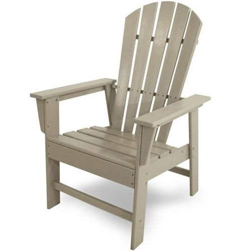 Polywood South Beach Dining Chair with Track Arms and Slat Design