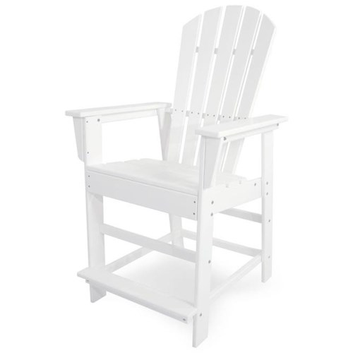 Polywood South Beach Counter Chair with Footrest