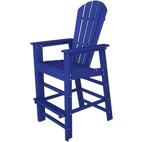 Polywood South Beach Bar Chair with Footrest