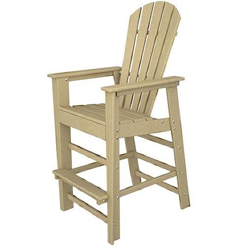 Polywood South Beach Bar Chair with Footrest