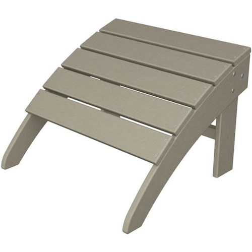 Polywood South Beach Adirondack Ottoman with Slat Design