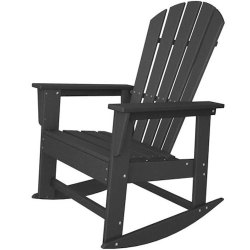 Polywood South Beach Rocker with Slat Design